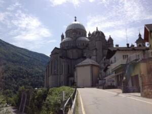 basilica dal versante svizzero