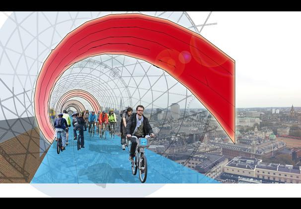 Skycycle: Londra avrà una pista ciclabile sospesa in aria
