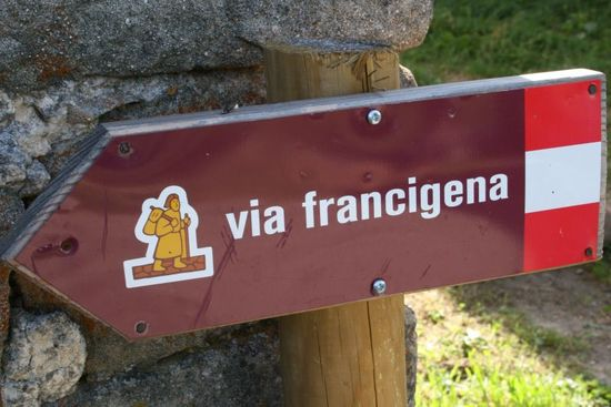 francigena in bicicletta