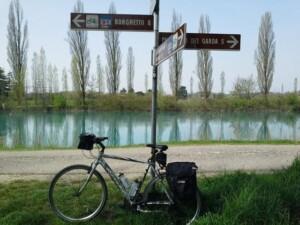 in bicicletta sul mincio