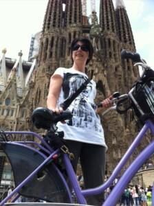 la sagrada familia in bici