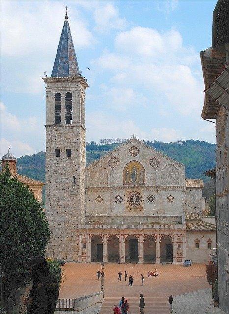 esterni del duomo di Spoleto