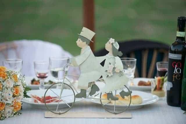 gli sposi in bici