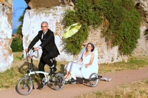 sposarsi in bicicletta