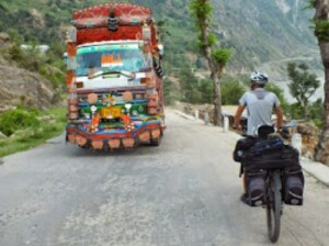 Pakistan Cina in bici