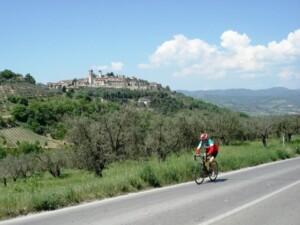 pedalare nei borghi umbri
