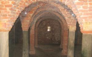 la cripta dell'antica abbazzia di san Pietro
