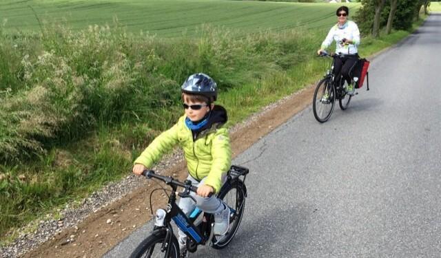viaggiare in bici con bambini