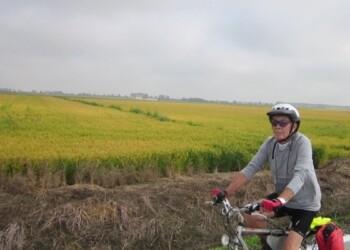 vercelli e risaie in bicicletta