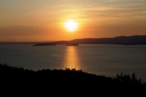 Lago Trasimeno, tramonto