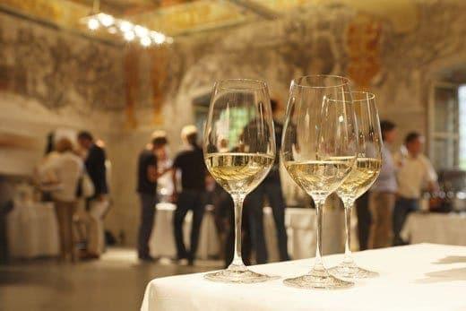 Suedtirol; Bozen, Genussfestival; Schloss Maretsch, Wein,