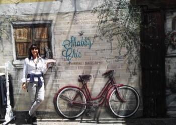murales con bicicletta