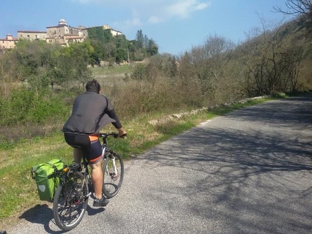 percorso in bici nel lazio