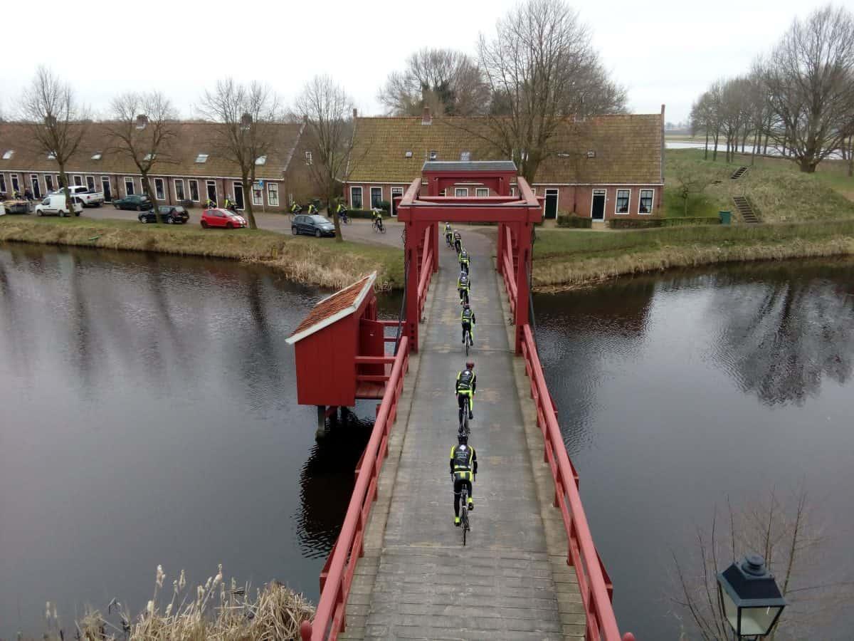 Gara ciclistica a Bourtange Olanda del Nord