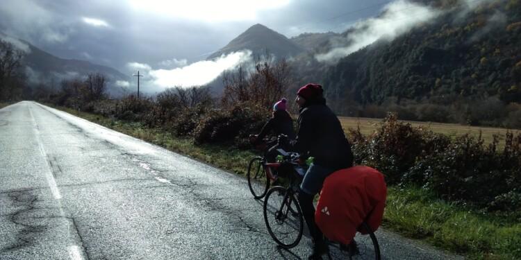 La strada tra Rieti e il lago del Turano