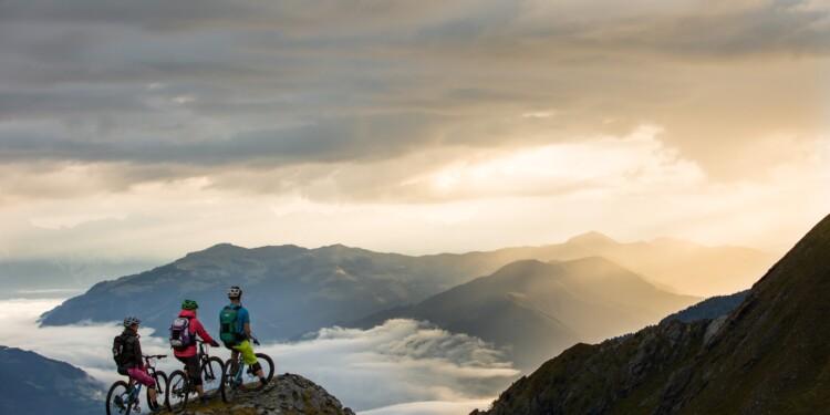 Mountainbiketour Kaprun - Aussicht geniessen