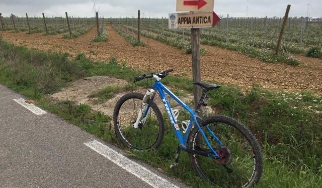 in mountain bike sull'appia antica