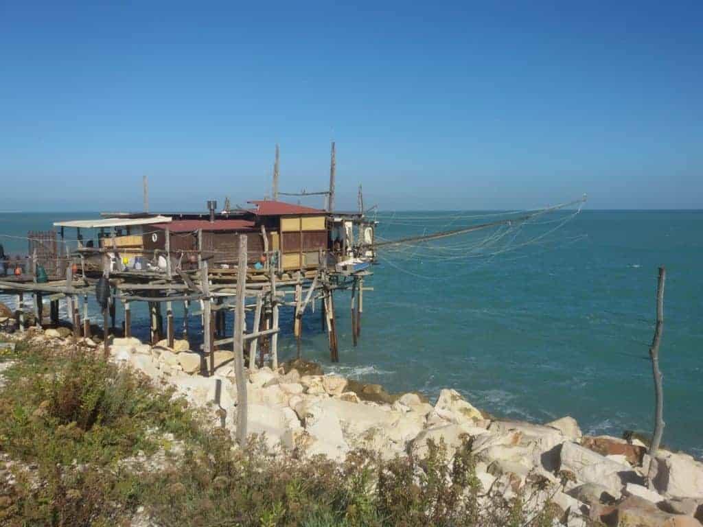 La costa dei trabocchi verso San Vito