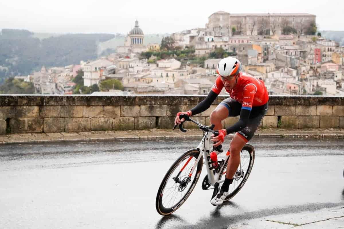 Foto LaPresse - Massimo Paolone 5 Aprile 2019 Ragusa (Italia) Sport Ciclismo Il Giro di Sicilia 2019 - Tappa 3 - Da Caltanissetta a Ragusa - km 188 Nella foto:Photo LaPresse - Massimo Paolone April 5, 2019 Ragusa (Italy) Sport Cycling Il Giro di Sicilia - Stage 3 - From Caltanissetta to Ragusa - 116,8 miles In the pic: