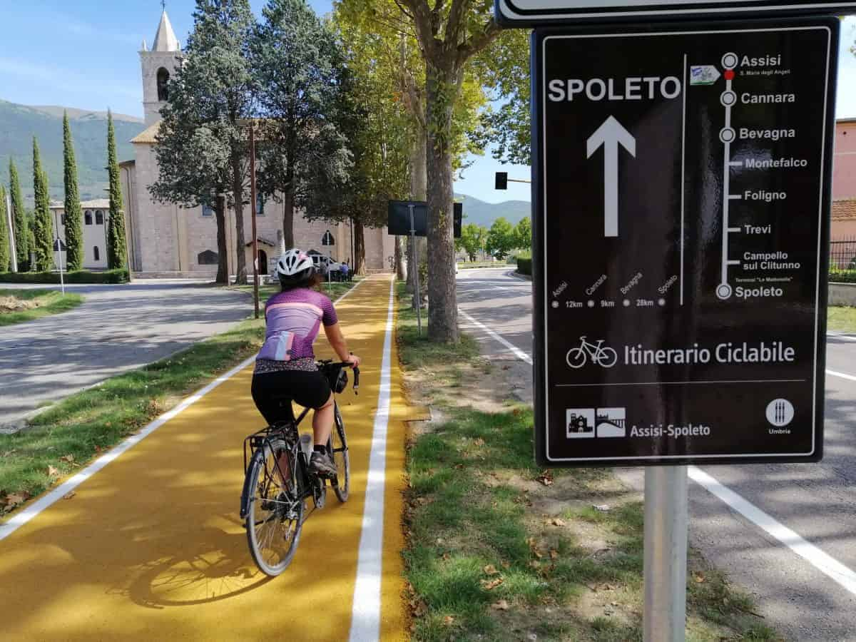 ciclabile Assisi