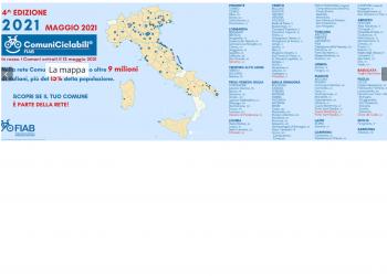 mappa comuni ciclabil