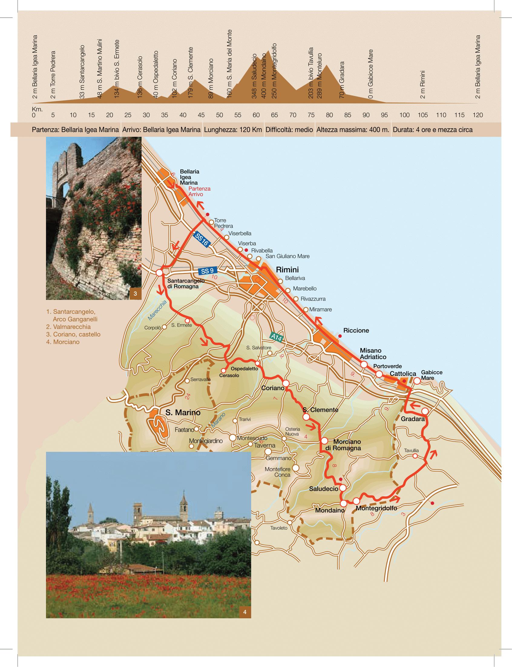 La strada delle colline di Romagna