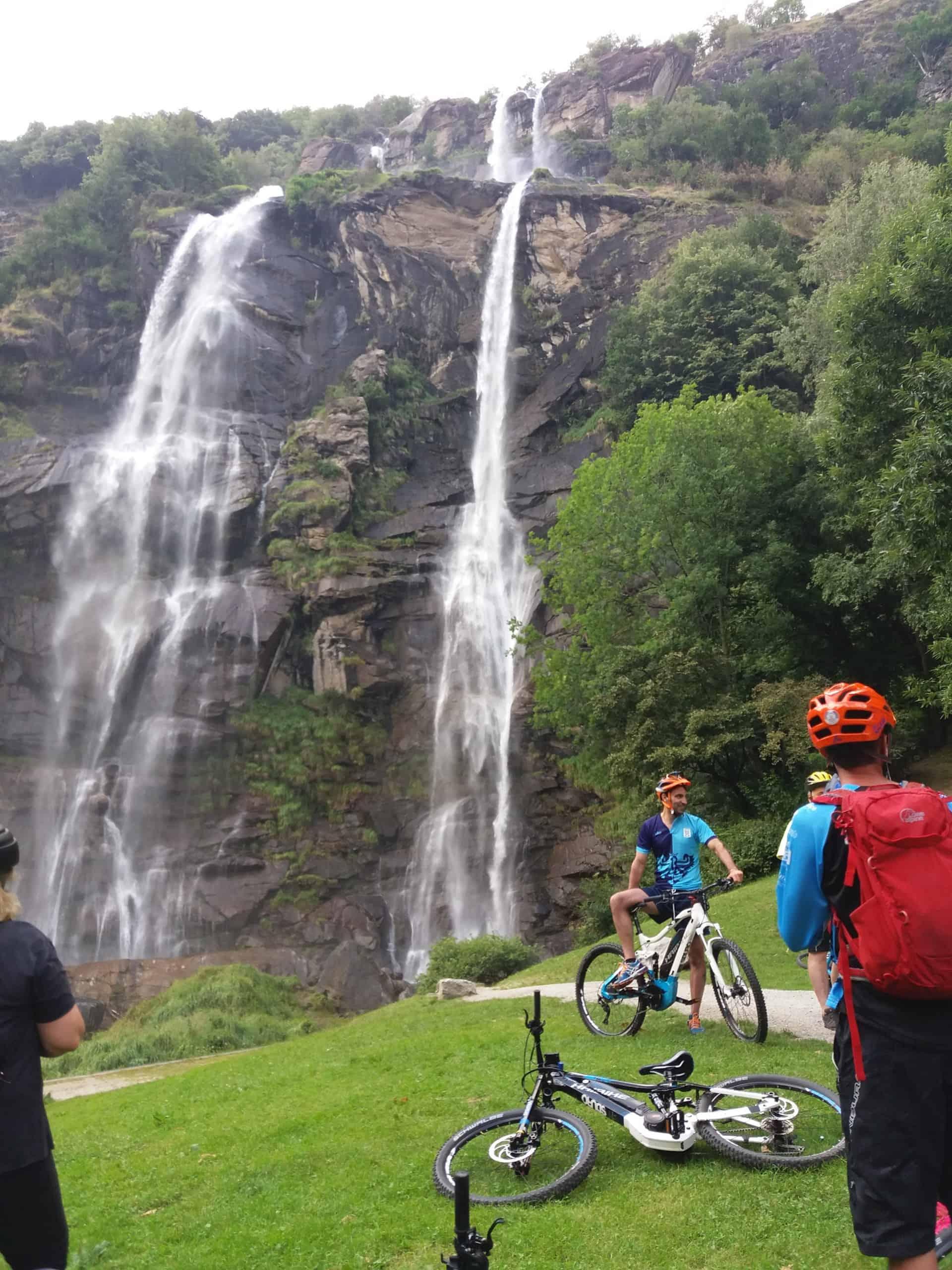 bici e cascate